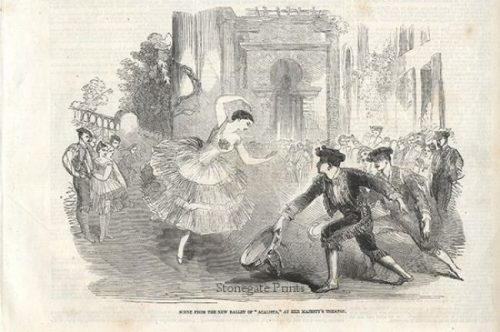 Scene from the New Ballet of Acalista at Her Majesty's Theatre c.1857