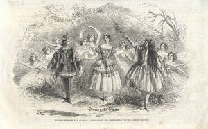 Tableau from the Last Scene of The Elves, or the Statue Bride, at the Adelphi Theatre c.1857