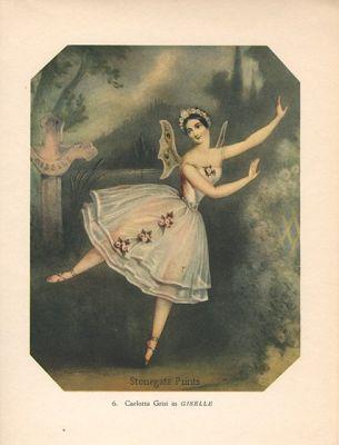 Vintage Dance Print Carlotta Grisi in Giselle c. 1938